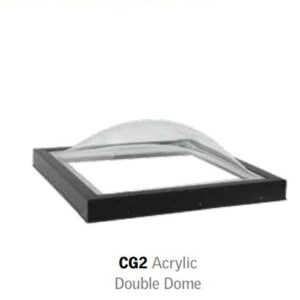 Acrylic double dome skylight