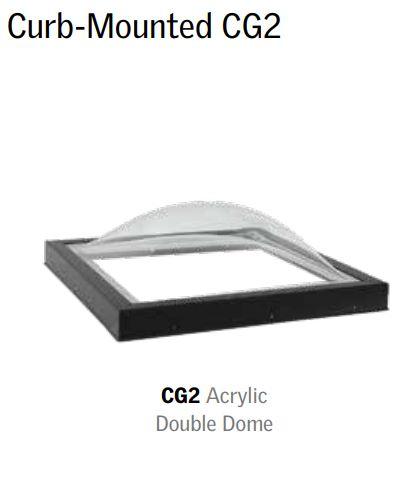 Acrylic double dome skylight